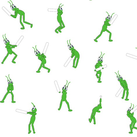ditzy cricket fabric by dawn_hocknell on Spoonflower - custom fabric