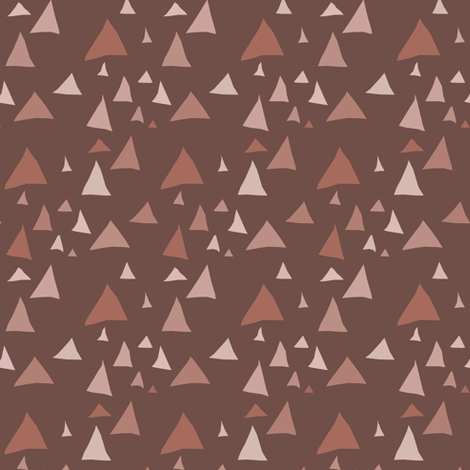 Earthen Triangles fabric by pond_ripple on Spoonflower - custom fabric
