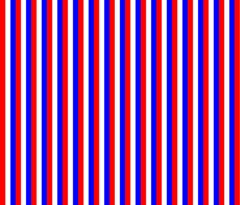 Red White Blue Stripe fabric by pd_frasure on Spoonflower - custom fabric