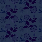 Blooms in Navy