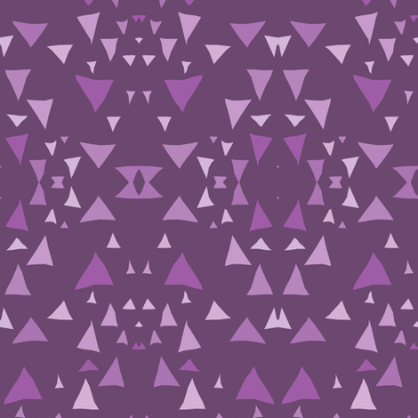 Purple Mountain Geometric fabric by pond_ripple on Spoonflower - custom fabric