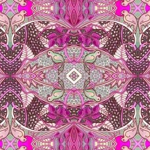 Birds of Paradise (magenta/gray)