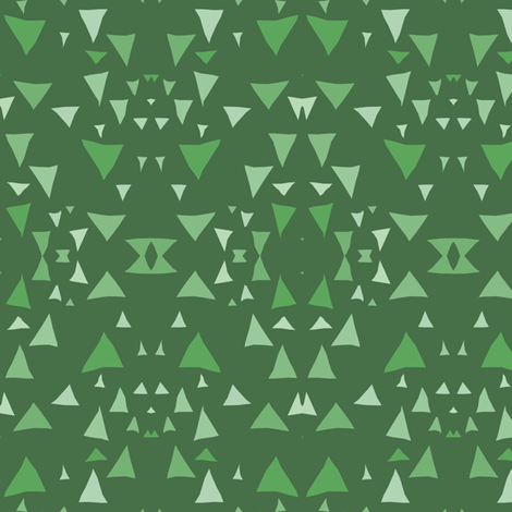 Geometric Forest fabric by pond_ripple on Spoonflower - custom fabric