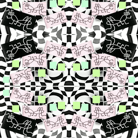 Ditsy Cricket Dance fabric by krussimages on Spoonflower - custom fabric