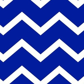 ROYAL AND WHITE CHEVRON LARGE