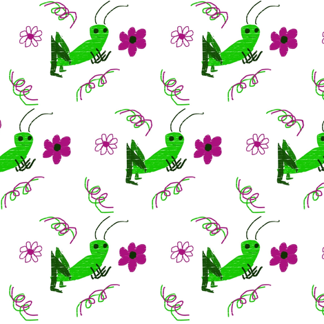 Ditzy spring cricket fabric by jaleegirl on Spoonflower - custom fabric