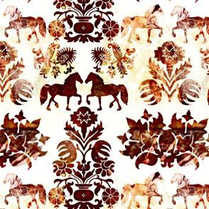 horse damask