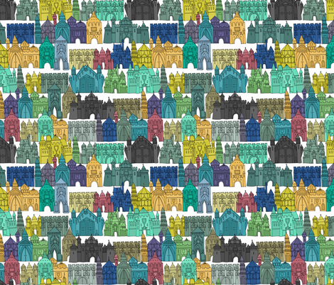 castle avenue day fabric by scrummy on Spoonflower - custom fabric