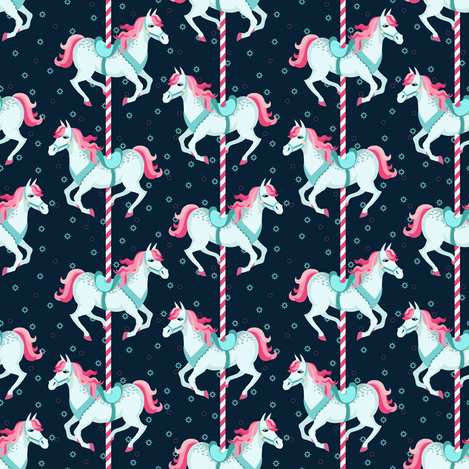 Merry-go-round fabric by lenivec on Spoonflower - custom fabric