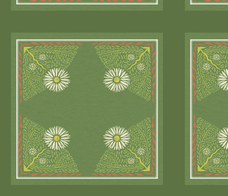 Art Nouveau Daisy Pillow fabric by vinpauld on Spoonflower - custom fabric