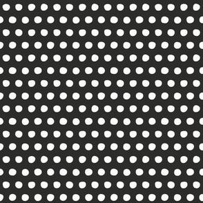 charcoal white petite polka