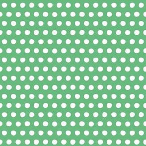 green white petite polka