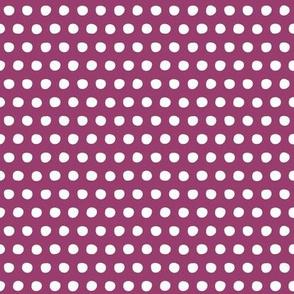 berry white petite polka