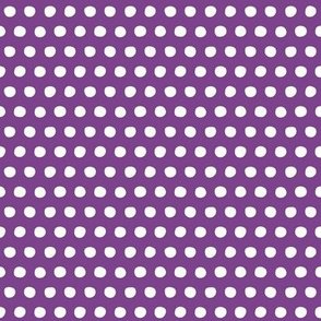 purple white petite polka