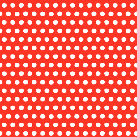 red white petite polka fabric by scrummy on Spoonflower - custom fabric