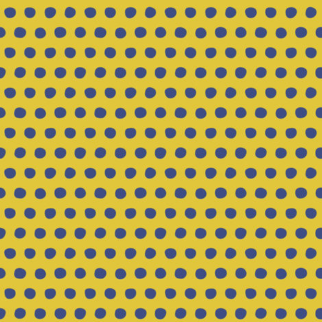 yellow blue petite polka fabric by scrummy on Spoonflower - custom fabric