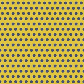 yellow blue petite polka