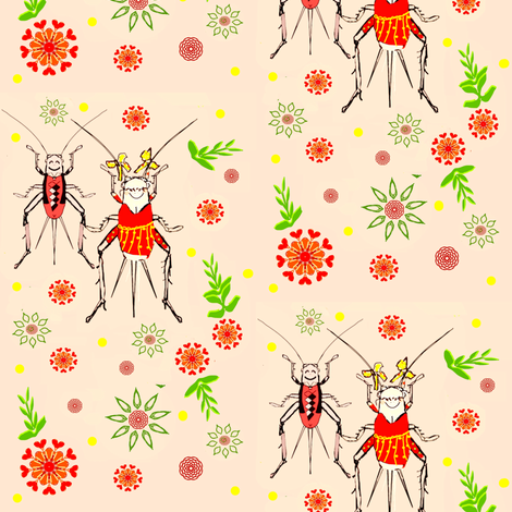 Cricket Conga-ed fabric by lbehrendtdesigns on Spoonflower - custom fabric