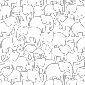 Hugo Grey Elephants