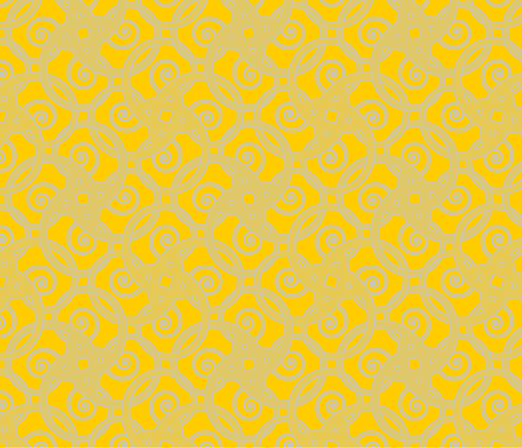 tribal tattoo spiral squares meyer lemon squeeze fabric by glimmericks on Spoonflower - custom fabric