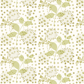Blooms and Pinwheels in Creamy Wheat