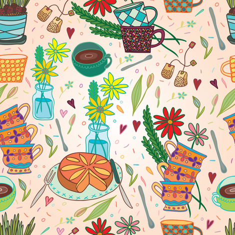 beautiful morning fabric by apolinarias on Spoonflower - custom fabric