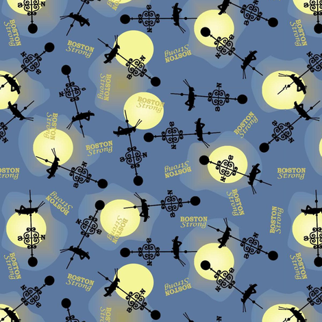 faneuil hall - boston strong fabric by roxiespeople on Spoonflower - custom fabric