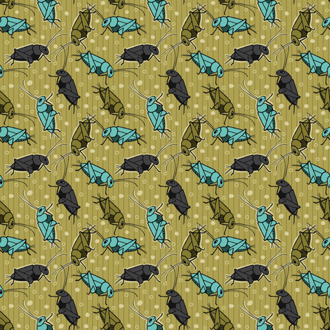 Bamboo Cricket Ditsy fabric by dianef on Spoonflower - custom fabric
