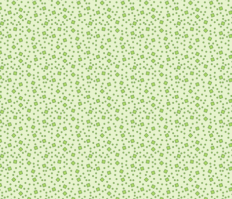Hibiscus - Ditsy (Green) fabric by studiofibonacci on Spoonflower - custom fabric