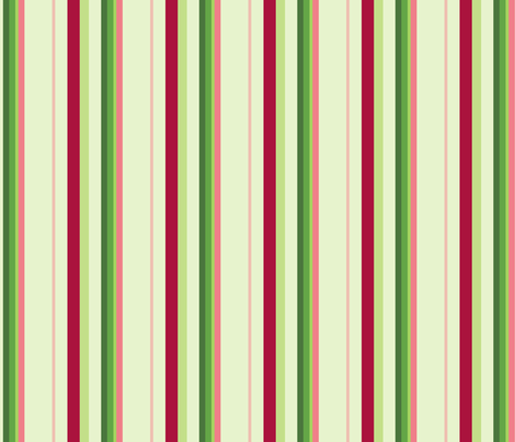 Hibiscus - Stripe fabric by studiofibonacci on Spoonflower - custom fabric