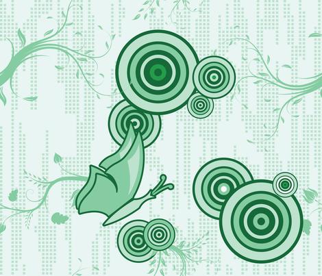 Swirly Butterfly (Green) fabric by studiofibonacci on Spoonflower - custom fabric