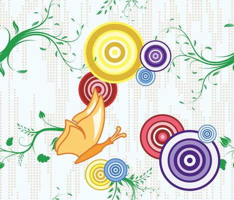Swirly Butterfly (Multicolored) fabric by studiofibonacci on Spoonflower - custom fabric