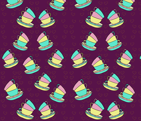 Tea Time fabric by cozyreverie on Spoonflower - custom fabric