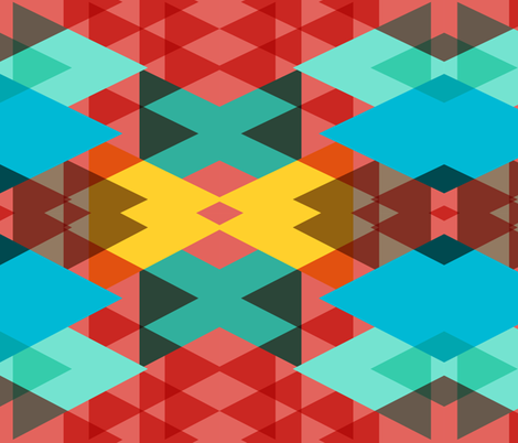 geometric crazy 3D fabric by pencilmein on Spoonflower - custom fabric