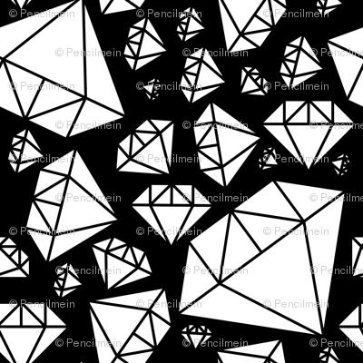White Diamonds on Black