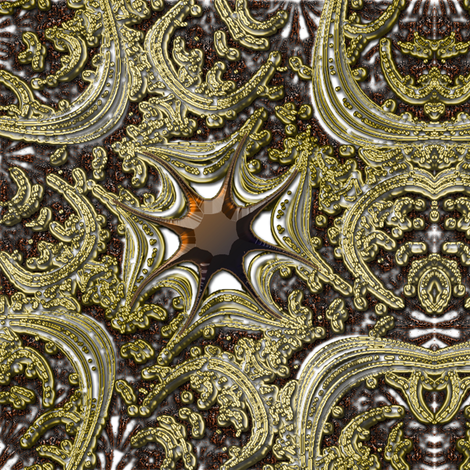 Gold and Topaz Maltese Cross 3 fabric by eclectic_house on Spoonflower - custom fabric