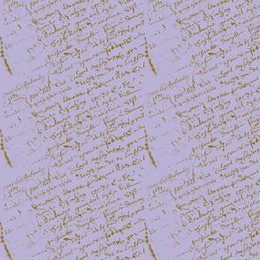 Lavender French Script cc
