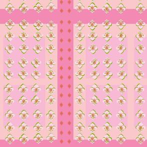 Squared Up Fleur De Lis in Pink