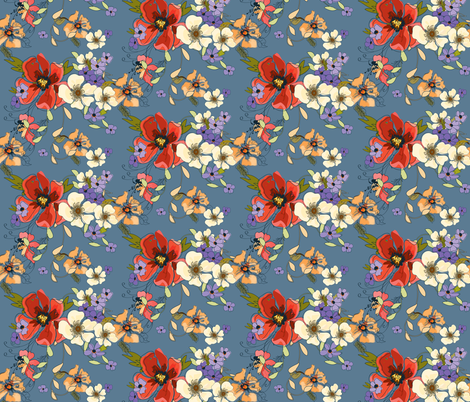 Watercolor_Floral fabric by lana_gordon_rast_ on Spoonflower - custom fabric