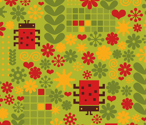 Bugs. fabric by panova on Spoonflower - custom fabric