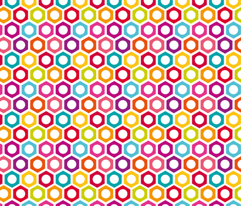 Hexagon Dot fabric by happyprintsshop on Spoonflower - custom fabric