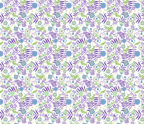 Deco Flowers and Crickets 3 fabric by vinpauld on Spoonflower - custom fabric