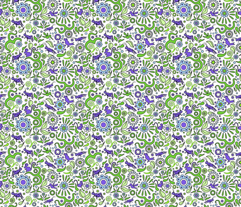Crickets in the Garden 3 fabric by vinpauld on Spoonflower - custom fabric