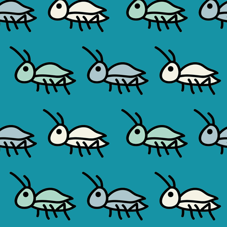 Ditsy Crickets Mini fabric by milkmod_studio on Spoonflower - custom fabric