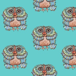 Whimsical Brown Owl