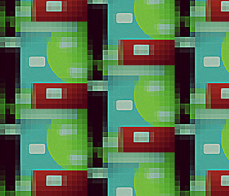 8 bit Retro Bytes fabric by drapestudio on Spoonflower - custom fabric