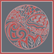 zen_orange_and_gray_circle_decal