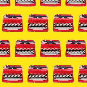 typewriter yellow background-ch-ed-ed
