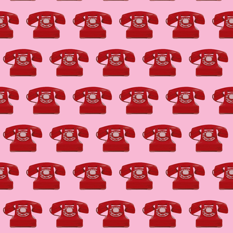 small Call me! pink fabric by sandeeroyalty on Spoonflower - custom fabric