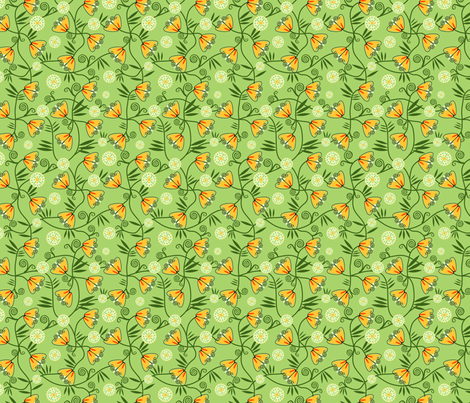 Art Deco Flowers fabric by vinpauld on Spoonflower - custom fabric